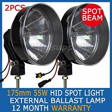 "2PCS 55W 7 inch 175mm HID XENON Driving Lights Working OffRoad 7"" Spotlight 4WD"