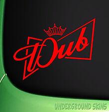 DUBWEISER Sticker Funny VW DUB Euro Bumper Window Decal Golf