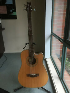 Ashton Acoustic Bass Guitar With Stand & Bag