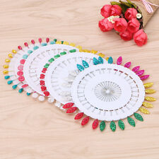 120Pcs Pearlised Sewing Pins W/ Wheel For Dressmaking Tailor Scarf Craft