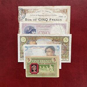 France Lot Billets 5 Francs 1910-1960 Ideal Primo Collection