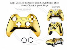 New Xbox One Elite Gold Chrome black rings Controller Soft Front Shell Unique