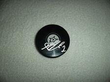 Jhonas Enroth Hand Signed Dallas Stars Logo Puck NHL Hockey Autograph