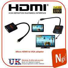 Micro HDMI Male to VGA Female Adapter Convetrter Cable