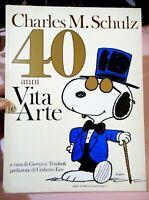 GROSSO LIBRO CARTONATO - CHARLES M.SCHULZ 40 ANNI VITA E ARTE EDIZIONI CLUB 1991