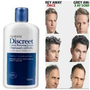 Restoria Discreet Colour Restoring Cream Anti Grey Hair Treatment Younger 150ml