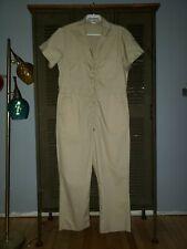 Vtg Sears Work N Leisure Jumpsuit Coveralls Romper Khaki Tan 70s Mens sz 40