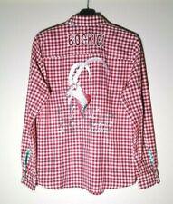 OS Trachten 'BOCKIG' Women's Long Sleeve Red White Check Shirt ~ UK 14, D/NL 40