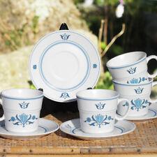 Lot de 4 tasses et soucoupes modèle Blue Haven Japan Noritake Progression