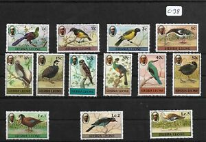 SMT 019, Siera Leone BIRDS partial set (13 stamps), MNH and scarce