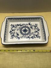 Meissen Blue Onion Serving Dish Casserole Royal China Stamped