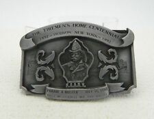 The Firemen's Home Centennial Hudson NY Leather King LTD ED # Belt Buckle 1992