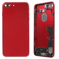 Carcasa Chasis Tapa Bateria + Piezas Apple Iphone 7 Plus Rojo