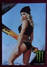 Sexy Girl Dorm Poster ~ Monster Energy Drink MONIKA Snowboard Snow Board