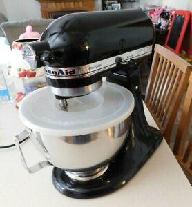 KitchenAid KSM90 300W Ultra Power Stand Mixer Whisk Bowl Black Attachments Aid