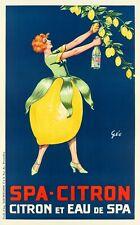 Original Vintage Poster - Geo - Spa Citron - Lemonade - Lemon tree - Water- 1920