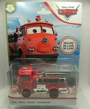 DISNEY Pixar CARS DELUXE Red Fire Truck Diecast Car NEW IN PACKAGE