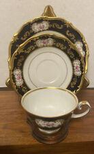 Reichenbach Echt Kobalt Tea Cup, Saucer And Dessert Plate Excellent