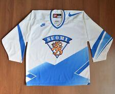 Nike Suomi Finland Team Hockey Shirt Jersey Made in Canada sz L