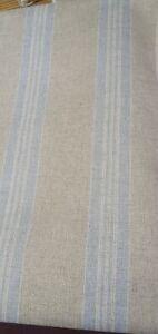 ART OF THE LOOM LEAGRAM  SKY WOVEN  LINEN 370cm X 138cm