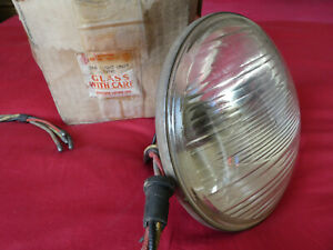 "Lucas F700 Cats Eye Headlamp NOS 7"" Vintage Classic MG Aston Ariel sq4 Barn Find"