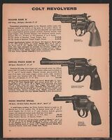 1972 COLT Trooper & Official Police Mark III,Police Positive Special Revolver AD