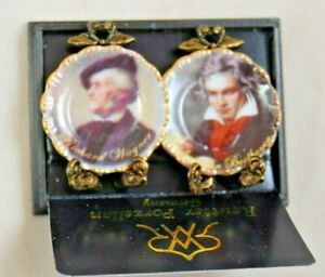 Plate Set: BEETHOVEN & WAGNER   1.400/2 miniature dollhouse 1/12 scale Reutter