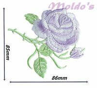 Rose Flower Iron on Sew on Embroidered Patches Patch Badge Badges Logo motif 81