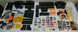 HUGE Lot of VINTAGE AURORA AFX TYCO T JET HO SLOT CARS, BODIES, CHASSIS, TRACK
