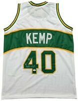 Shawn Kemp autographed signed inscribed jersey NBA Seattle Supersonics JSA COA