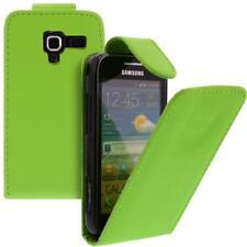 Für Samsung Galaxy Ace 2 GT-i8160 Handy Flip Case Tasche Hülle Schutz Grün