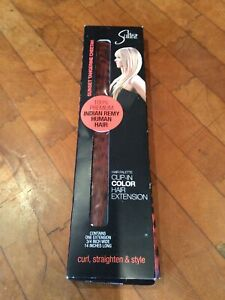 Sultra Hair Extension 100% Human Hair Clip In Indian Remy Sunset Tangeerine Chee