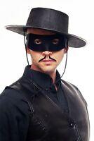 Máscara Venda de los Ojos Hombres Negro Zorro Justiciero de Bandido 65-86