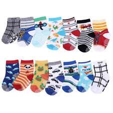 14 Pairs 100% Cotton Boy Girl ABS Anti Non Slip Baby Socks 6 months to 3 years