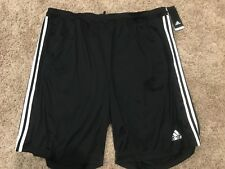 NWT Men's Big & Tall Adidas  Climalite Performance Black Shorts 3XLT MSRP $35
