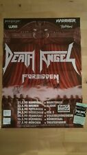 Tourplakat,1990, Poster, Signiert, Death Angel, Forbidden, Thrash Metal, Rarität