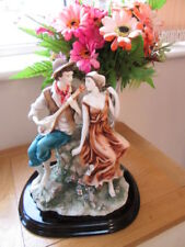 Ceramic Statue Of Mandolin Player and young Lady Leonardo Collection