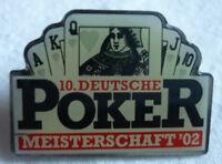 POKER 10. DEUTSCHE MEISTERSCHAFT 2002 TEILNEHMER PIN