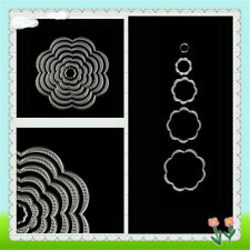 7Pcs Lovely Flower Circles Cuttings Dies Scrapbook Embossings Album Paper Craft#