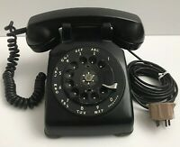 Vintage Bell System Western Electric Black Rotary Dial Telephone Phone Untested