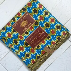 Ankara SuperWax African Fabric 100% Cotton Vibrant Colours 1 Yard or 6 Yards
