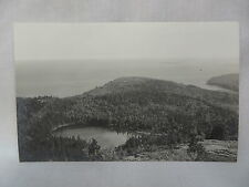 VINTAGE REAL PHOTO POSTCARD THE BOWL FROM CHAMPLAIN MOUNTAIN BAR HARBOR MAINE