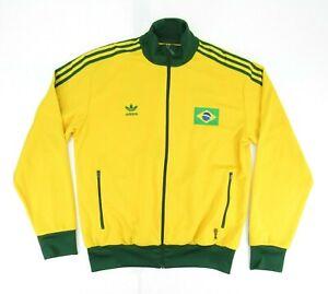 Adidas Brasil Track Jacket 2005 FIFA World Cup Men XL Yellow Green Soccer Brazil