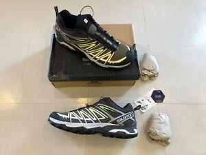 Salomon Men's X Ultra 3 Hiking Shoes, Burnt Olive/Shale/Acid Lime, Size 14, box