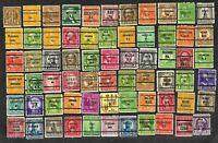 66 U S Precancel Stamps Used Hudson NY, Two Rivers WI, Sisseton SD etc