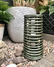 Rustic Green Wooden Lantern Vintage Candle Tea Light Holder Wedding Venue Decor
