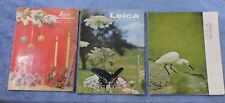 LOT OF 3 ENGLISH LEICA PHOTOGRAPHY MAGAZINES-1955 #4,1962 #2, AND 1973 #1