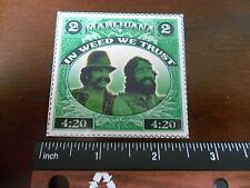 """2.5"""" Funny Marijuana Cheech and Chong STICKER. 420 Weed stamp. For bong or pipe."""