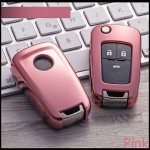 Pink Key Cover For Vauxhall Opel Mokka A Insignia Antara Case Fob Button 3 t10*