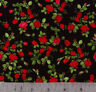 Red Mini Roses 100% Cotton Print By Timeless Treasures